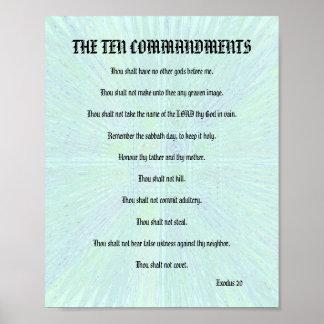 The Ten Commandments - Aqua Splash Posters