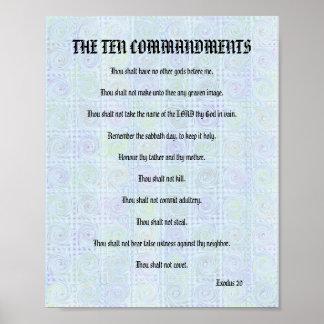 The Ten Commandments - Aqua Twists Poster