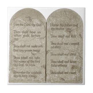 The Ten Commandments Ceramic Photo Tile