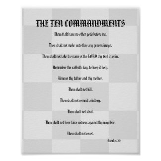 The Ten Commandments - Checkerboard Poster