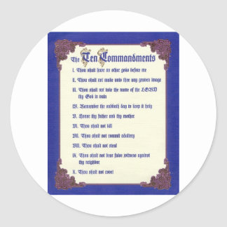 THE TEN COMMANDMENTS CLASSIC ROUND STICKER
