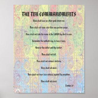 The Ten Commandments - Color Twist Poster
