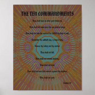 The Ten Commandments - Dark Golden Surprise Poster