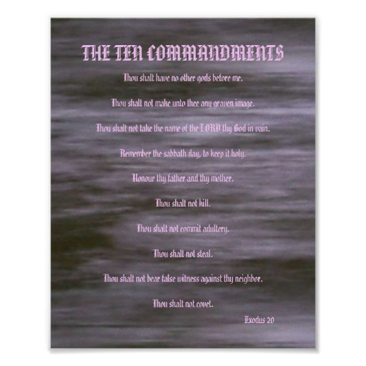 The Ten Commandments - Gray Streaks #2 Poster