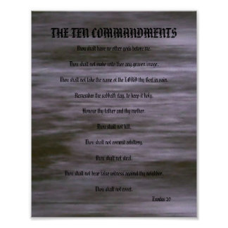 The Ten Commandments - Gray Streaks Poster