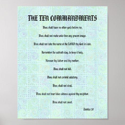 The Ten Commandments - Greenish Twists Poster