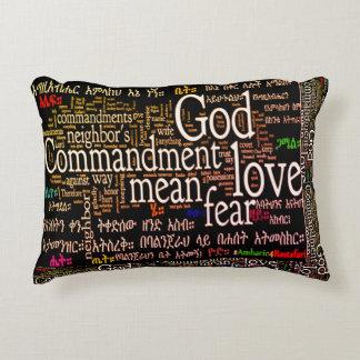 "The Ten Commandments In Amharic Pillow 16"" x 12"""