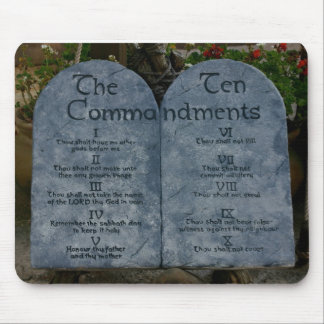The Ten Commandments Mouse Pad