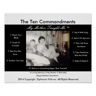 The Ten Commandments My Mother Taught Me Poster