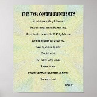 The Ten Commandments - Pastel Floral Poster