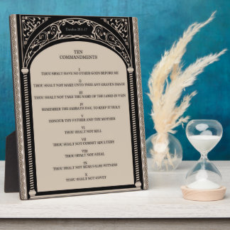The Ten Commandments Photo Plaque