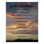 The Ten Commandments - Pine Moon Poster