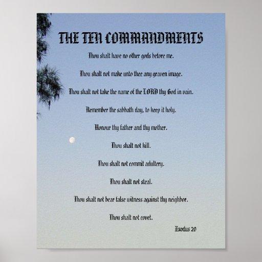 The Ten Commandments - Pine Moon Poster