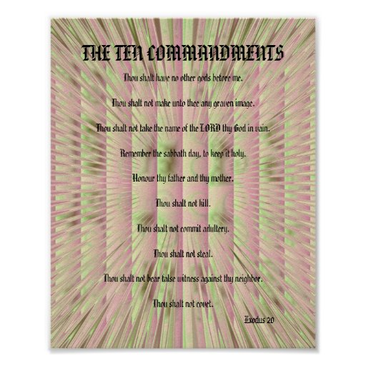 The Ten Commandments - Pink Spikes Poster
