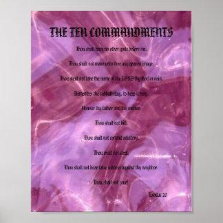 The Ten Commandments Poster - Pink Glass
