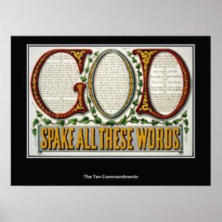 The Ten Commandments Poster Print