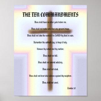 The Ten Commandments - Rainbow Cross Poster