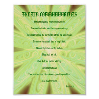 The Ten Commandments - Soft Yellow Floral Poster