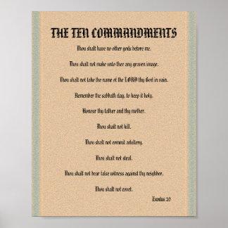 The Ten Commandments - Stone Column Poster