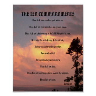 The Ten Commandments - Sunset #2 Poster