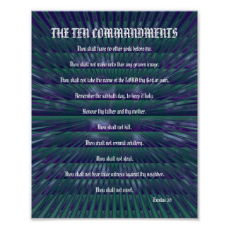 The Ten Commandments - Teal Spikes Poster