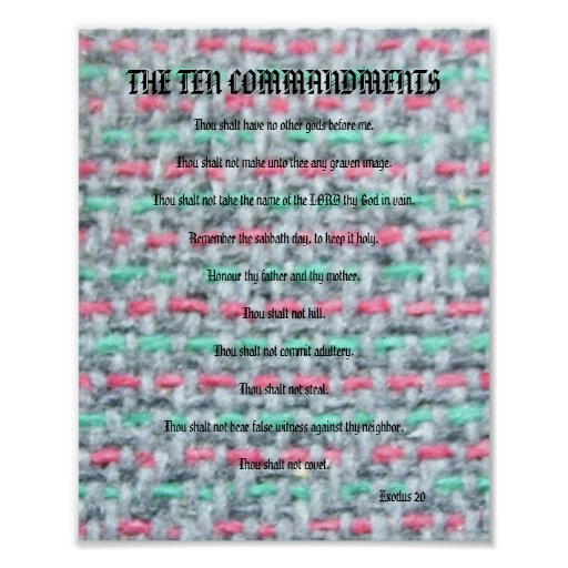 The Ten Commandments - Weave Poster