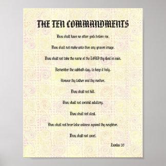 The Ten Commandments - Yellow Twists Poster