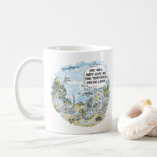 The Tentacle cartoon right hand coffee mug