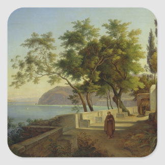 The Terrace of the Capucins in Sorrento, 1828 Square Sticker