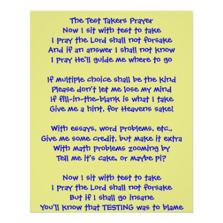 The Test Takers Prayer Print