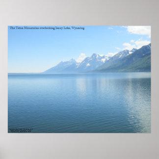 The Teton Mountains overlooking Jenny Lake Poster