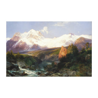 The Teton Range by Thomas Moran Canvas Print