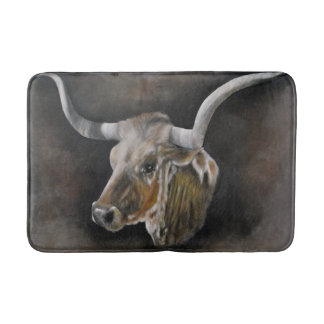 The Texas Longhorn Bath Mat