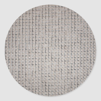 The texture of the grey fabric classic round sticker