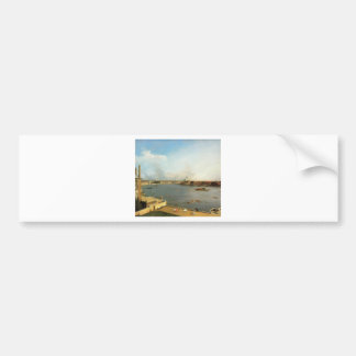 The Thames and the City of London from Richmond Bumper Sticker