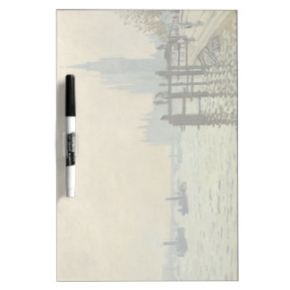 The Thames Below Westminster by Claude Monet Dry Erase Board