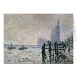 The Thames below Westminster - Claude Monet Card