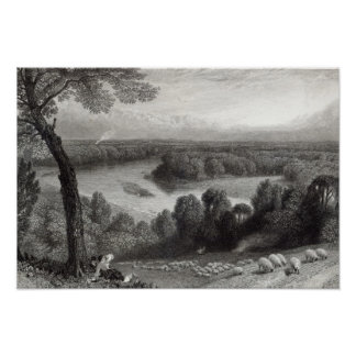 The Thames from Richmond Hill Poster