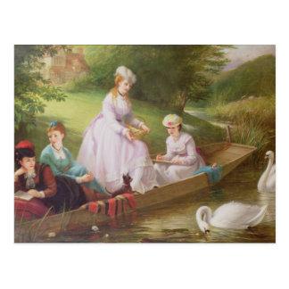 The Thames Swans Postcard