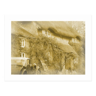 The thatched cottage at the end of the lane. postcard