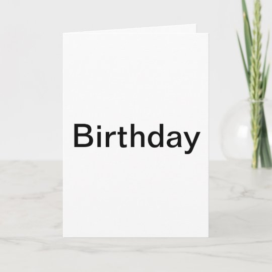 The the card that says very little