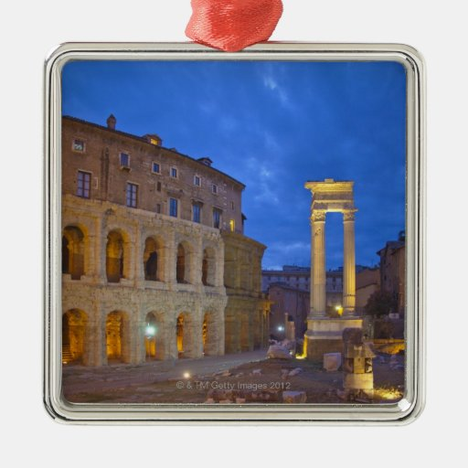 The Theater of Marcellus in Rome at night Christmas Tree Ornaments