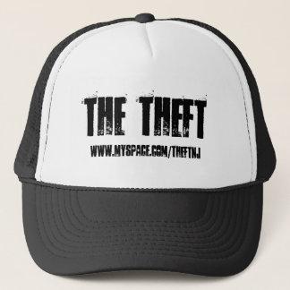 The Theft, www.myspace.com/theftnj - Customized Trucker Hat