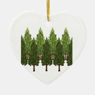 THE THICK FOREST CERAMIC HEART ORNAMENT