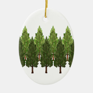 THE THICK FOREST CERAMIC OVAL ORNAMENT