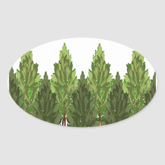 THE THICK FOREST OVAL STICKER