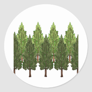 THE THICK FOREST ROUND STICKER