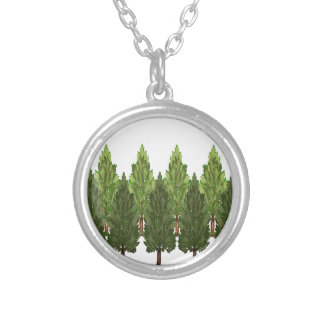 THE THICK FOREST SILVER PLATED NECKLACE