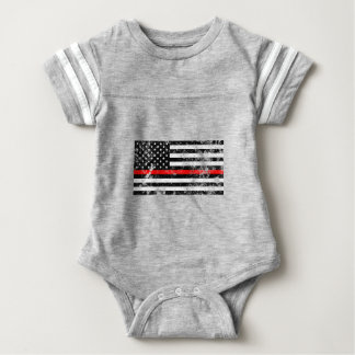 The Thin Red Line Baby Bodysuit