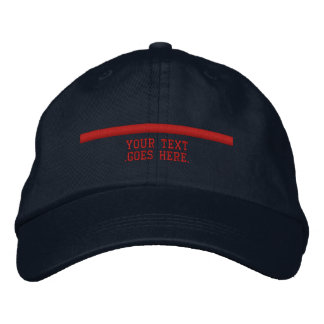 The Thin Red Line Personalize it with text Embroidered Hat